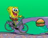 Спанчбоб на велосипеде