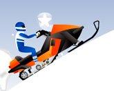 Трюки на снегоходе
