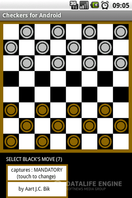 Скачать бесплатно Checkers for Android v.1.4. Email.