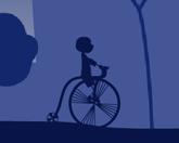 Романтичный велосепедист