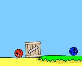 Красный и синий шары