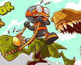 На динозавре