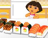 Даша готовит суши