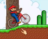 Марио на велосипеде