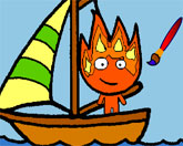 Огонь и Вода: раскраска