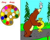 маша и медведь: раскраска1