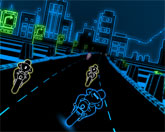 3D неоновая гонка