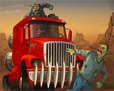 Давить зомби на грузовике