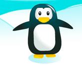 Пингвин ловит рыбу