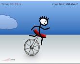 Вызов на одноколесном велосипеде