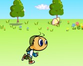 Прыгун на прогулке