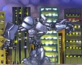 Робот напал на город