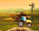 Трактор на бездорожье