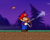 Марио стреляет в тыкву