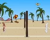 Пляжный волейбол под солнцем