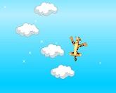 Тигра прыгает по облакам
