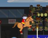 Прыжки лошади Персид