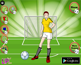 Девушка футболистка