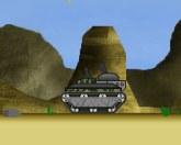 Боевой танк в пустыне