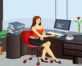Анна в офисе