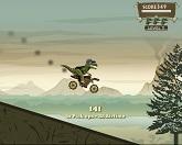 Динозавр-мотоциклист