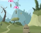 Тряпичная кукла с парашютом