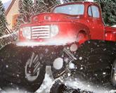 Тяжелые колеса на снегу