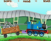 Томас возит мячи