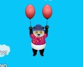 Панда в воздухе