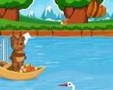 Медведь и рыба