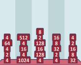 2048 кирпичей