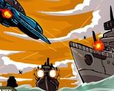 Авианалет в море