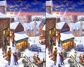 Найди отличия - Зимняя ночь