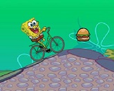 Губка Боб на велосипеде