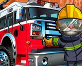 Кот Том пожарник