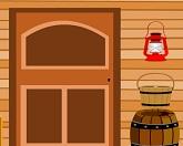Выход из деревянного дома