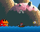 Марио на лодке