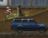 Осеняя гонка на мотоцикле