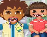 Даша и Диего в зубного