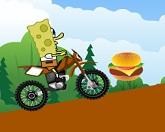 Губка Боб на мотоцикле
