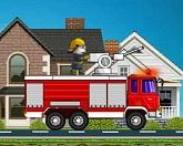 Том на пожарной машине
