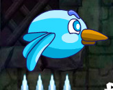Синяя Флаппи птичка