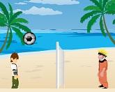 Пляжный волейбол Наруто и Бен 10
