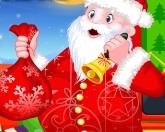 Санта дарит подарки