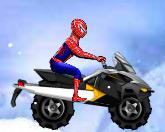 Человек паук и снежный скутер