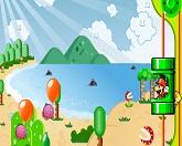 Марио стреляет шары