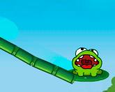 Лягушка пьет воду