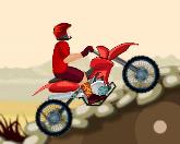 Мотоциклист в пустыне