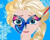 Рисование на лице Эльзы