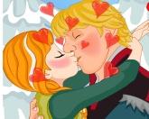 Анна целуется